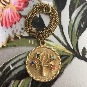 Vintage Family Tree Necklace